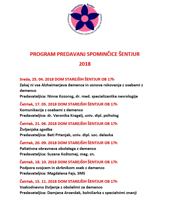 PROGRAM PREDAVANJ 2018